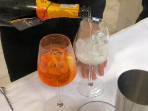 miscelazione di cocktail e sparkling