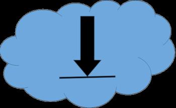 Nuvola con freccia verso il basso- download