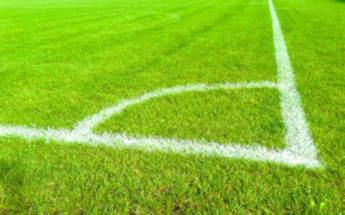l'angolo din un campo di calcio